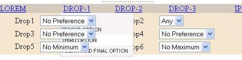 Drop down menu disappears behind SELECT box in IE6 ?
