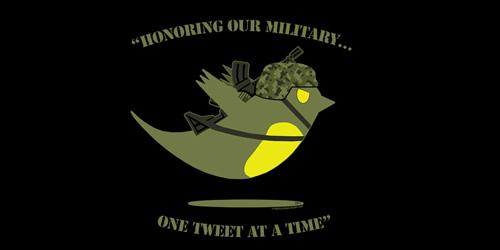 military tweet