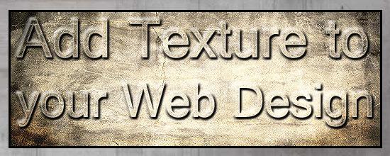 Texture in Web Designing